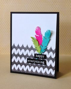 Gorgeous card by Donna using Simon Says Stamp Exclusive Feather Dies.February 2014