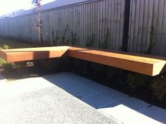Timber bench seat - Floating