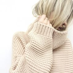 figtny.com | Zara High-neck Sweater and Vrai and Oro gold skinny stacking rings