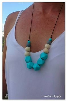 Check out this item in my Etsy shop https://www.etsy.com/au/listing/476963280/turquoise-grey-silicone-and-natural-wood