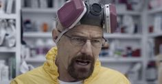 Walter White sells '#pharmaceuticals' in Esurance Super Bowl ad http://shuffleupon.com/
