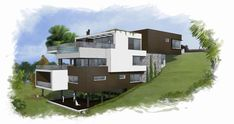 O projeto se adapta ao desnível do terreno (mínimo de cortes e aterros).