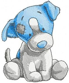 Little dog machine embroidery design