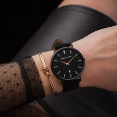 Black Watches For Girls, Stylish Watches For Girls, Fancy Watches, Trendy Watches, Elegant Watches, Beautiful Watches, Women's Watches, Wrist Watches, Luxury Watches