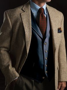 Moleskin Waistcoat in Navy  Mens Fashion | #MichaelLouis - www.MichaelLouis.com