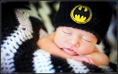 Newborn Photo Prop Baby Boy Batman Hat by MitziKnitz on Etsy, $23.00