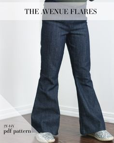 """The AVENUE FLARES - side zip or back elastic (""""hack"""" button elastic probably) and option for back welt and front pockets!"""