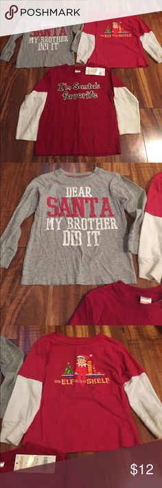 Carters & Gymboree Shirts Size 3T Carters and Gymboree Christmas shirts size 3T! One is brand new with tags! Check out my closet too Carter's Shirts & Tops Tees - Long Sleeve