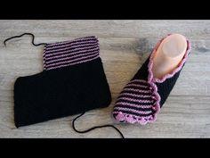Великолепные своей простотой следки спицами   Easy slippers knitting pattern - YouTube Knit Slippers Free Pattern, Baby Booties Knitting Pattern, Knitted Slippers, Baby Knitting Patterns, Knitting Stitches, Knitting Designs, Knitting Socks, Free Knitting, Crochet Patterns