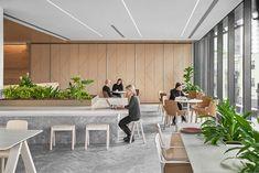 AUSTRALIAN UNITY CASE STUDY | LOTUS DOORS Cafe Interior, Office Interior Design, Office Interiors, Study Cafe, Work Cafe, Commercial Design, Commercial Interiors, Office Fit Out, Green Office