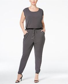 MICHAEL Michael Kors Plus Size Printed Jogger Jumpsuit -- Read more reviews of the product by visiting the link on the image.