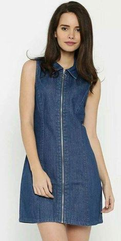 Best 12 G-Star Rider jeans dress – SkillOfKing. Trendy Dresses, Nice Dresses, Casual Dresses, Short Dresses, Casual Outfits, Jeans Dress, Dress Skirt, Dress Outfits, Fashion Dresses