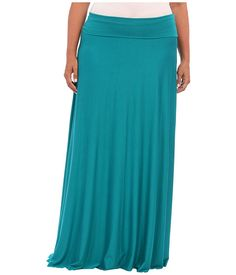 Rachel Pally Plus Plus Size Long Full Skirt White Label Sea - 6pm.com