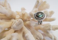 Labradorite Statement Ring Sterling Silver by RadiantJewelStudio