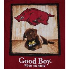 Arkansas Razorbacks Football T-Shirts - Man's Best Friend - Good Boy uniquecollegetshirts.com