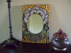 Retro Mosaic Tile Mirror