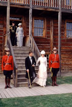 Princess Diana and Prince Charles in historic dress on Royal Tour in Canada, 1983