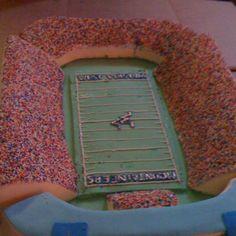 WVU stadium cake