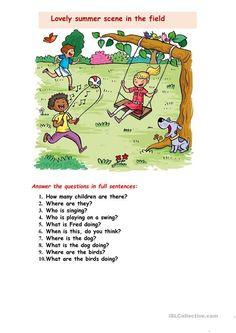 English Books For Kids, English Grammar For Kids, Learning English For Kids, English Lessons For Kids, English Reading, English Fun, Learn English Words, Picture Story Writing, Picture Story For Kids