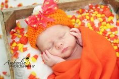 Candy Corn baby!  Newborn Photography Halloween