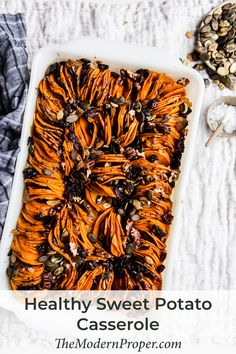Healthy Sweet Potato Casserole  #healthy #Sweet #potato #thanksgiving