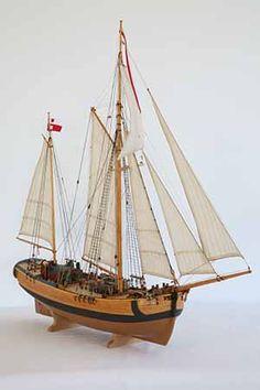 Ship model 18th century galeas from Stettin