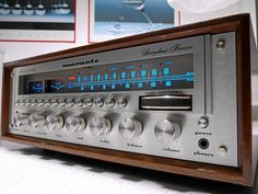 Vintage Marantz stereo receiver, c. 1970's. To this day, you'd be hard pressed to find something that delivers the sound that this unit provides. They still sell for an obscenely high amount of money online.