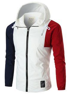 #Spring #AdoreWe #SammyDress - #Rosewholesale Full Zip Color Block Anorak Jacket - AdoreWe.com