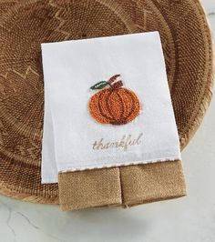 French Knot Pumpkin Towel
