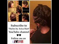 Braid, Twist, Krimp Hair Styles by Arica Hart - Hair Stylist in an Aiken, SC Hair Salon - 803-215-1 - YouTube
