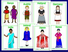 costumes around the world country - costumes around the world - costumes around the world kids - costumes around the world diy - costumes around the world country Around The World Theme, Costumes Around The World, Around The World In 80 Days, We Are The World, People Around The World, Around The Worlds, Diversity Activities, Multicultural Activities, Geography Activities