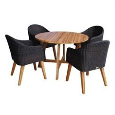 Havesæt med 4 stole FSC certificeret akacietræ