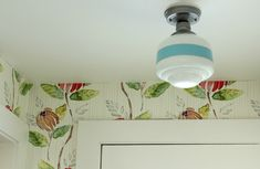 Cottage tour filled with great ideas like this DIY schoolhouse light - brilliant!