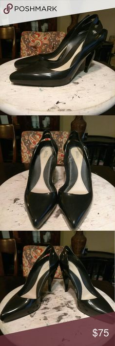 🦃BLACK FRIDAY!! Melissa-Ankle-High Pump WERRKKKKK!!! Talk about a black pump that is perfect for any season and will have you always looking FAB!!! Black rubber pump, w/back cut-outs, Melissa silver emblem, 3 3/4in heel!!! Great condition inside and out!!! Let's make some offers Ladies!!! Melissa Shoes Heels