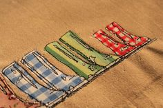 Freehand machine embroidery and applique close up - I'M GONNA DO THIS ON MY NEW MACHINE!