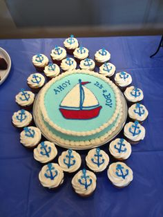 Nautical Baby Shower Cake   What If We Did Something Like This Instead Of  Just A