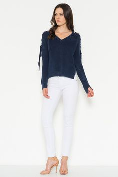 BOBII LACE UP SWEATER