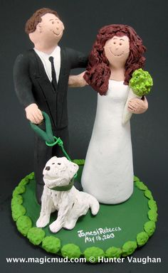 our pet wedding cake topper  http://www.magicmud.com   1 800 231 9814  magicmud@magicmud.com  http://blog.magicmud.com  https://twitter.com/caketoppers        $235 #wedding #cake #toppers #custom #personalized #Groom #bride #anniversary #birthday#weddingcaketoppers#cake-toppers#figurine#gift#wedding-cake-toppers  http://instagram.com/weddingcaketoppers  http://www.tumblr.com/blog/custom-wedding-cake-toppers  https://www.facebook.com/PersonalizedWeddingCakeToppers