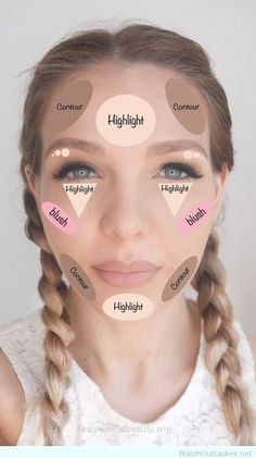 41 trendy makeup tips for beginners eyeliner make up Easy Contouring, Contouring For Beginners, Light Contouring, Contouring Makeup, Makeup Tutorial For Beginners, Contouring And Highlighting, Makeup Eyeshadow, Makeup Brushes, Contouring Products