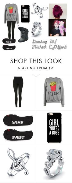 """""""Gaming W/ Michael CLifford"""" by batwomen-179 ❤ liked on Polyvore featuring Topshop, Adolescent Clothing, Vans and Bling Jewelry"""