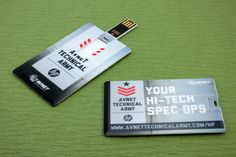 New Wallet Card Mini Flips for HP Avnet Technical Army