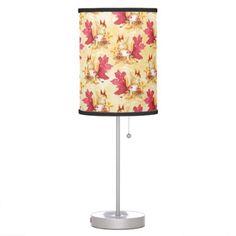 Colorful autumn leaves desk lamp - watercolor gifts style unique ideas diy