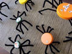 Bottlecap Spiders   iVillage.ca