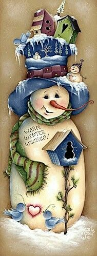 Warm Winter wishes come to you from this sweet snowman Christmas Snowman, Winter Christmas, Vintage Christmas, Christmas Ornaments, Merry Christmas, Snowman Crafts, Christmas Projects, Holiday Crafts, Christmas Pictures