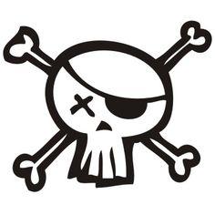 dibujo de calavera pirata para imprimir  Buscar con Google