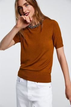 73a6fec562e Image 2 of BEJEWELLED NECK SWEATER from Zara Return To Work