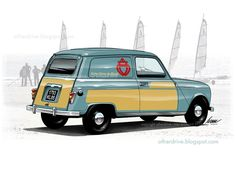 automobile art, la chronique d& Brossard Fiat 500, Automobile, Car Illustration, Car Drawings, Automotive Art, Military Art, Car Photos, Cars And Motorcycles, Cool Cars