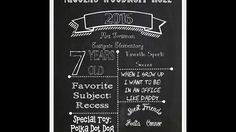 Chalkboard tutorial 2:  How to turn MS Word doc into a poster at OfficeMax or Costco.  Learn how to make any custom or personalized chalk board banner totally free of charge!  Customize for 40th birthday, 1st birthday, wedding or any special occasion.