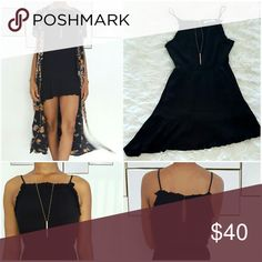 BCBG Black Baby Doll Dress BCBG Black Baby Doll Dress with a subtle slant BCBGeneration Dresses Mini