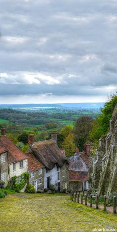U.K. Gold Hill, Shaftesbury, Dorset, England